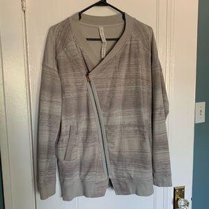 Lululemon asymmetrical zip jacket